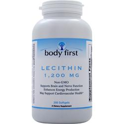 Body First Lecithin Non-GMO - 1200 mg 200 softgels