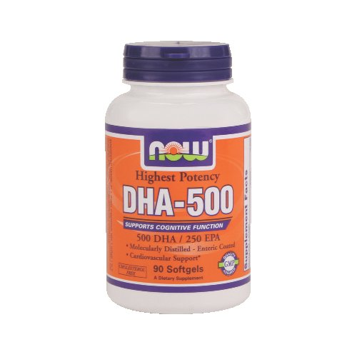 NOW Foods DHA-500 - Supports Cognitive Function
