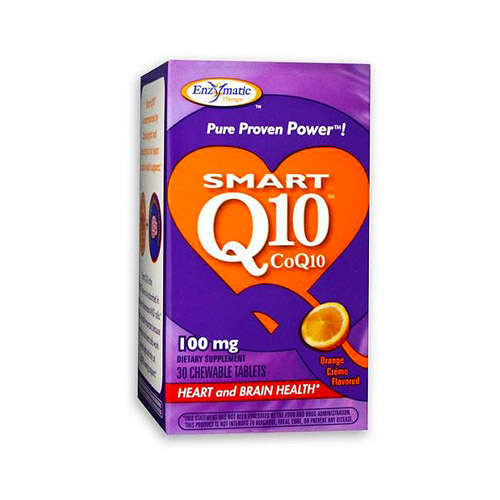 Enzymatic Therapy Smart Q10 (100mg) Orange Creme 30 tabs