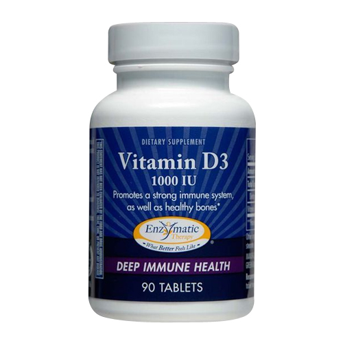 Enzymatic Therapy Vitamin D3 (1000IU) 90 tabs
