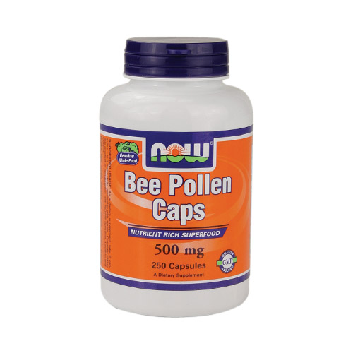 NOW Bee Pollen Caps (500mg) 250 caps