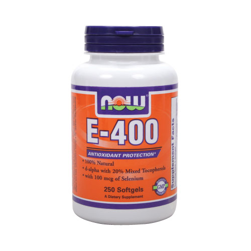 Now E-400 (Mixed Tocopherols) 250 sgels