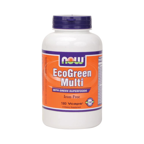 NOW EcoGreen Multi - Iron Free 180 vcaps