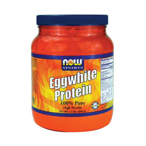 NOW Eggwhite Protein - 100% Pure Unflavored 1 lbs