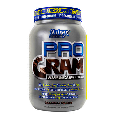 Nutrex Research Pro-Gram Chocolate Mousse 2.48 lbs
