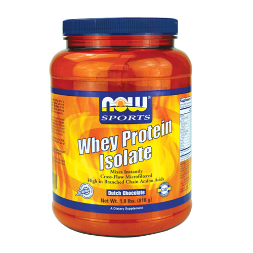 NOW Whey Protein Isolate (Natural) Chocolate 1.8 lbs