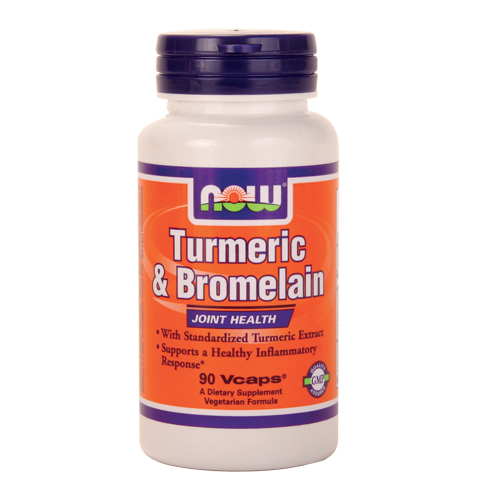 Now Turmeric and Bromelain - 90 vcaps