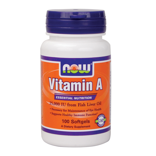 NOW Vitamin A (25,000IU) 100 sgels