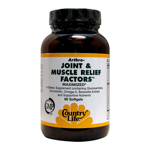Country Life Joint & Muscle Relief Factors 60 sgels