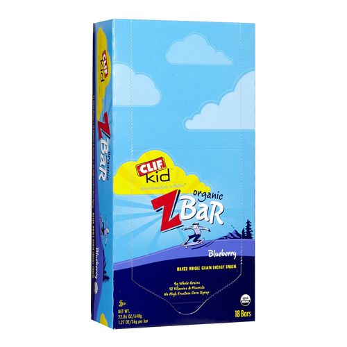 Clif Bar Z Bar for Kids Blueberry 18 bars
