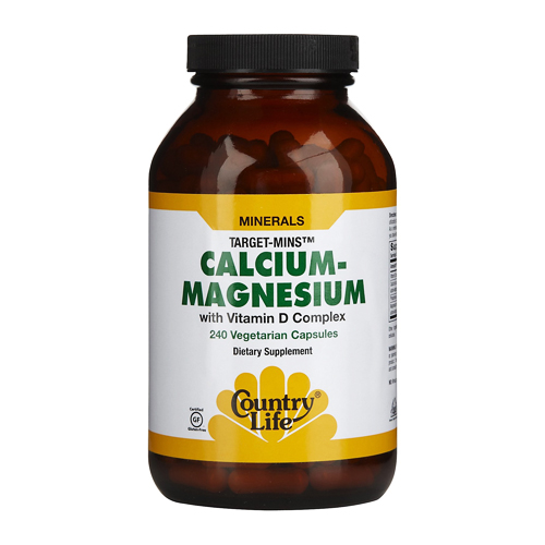 Country Life Target-Mins - Calcium-Magnesium with Vitamin D 240 vcaps