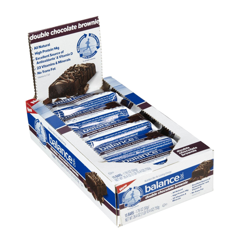 Balance Bar Original Double Chocolate Brownie 15 bars