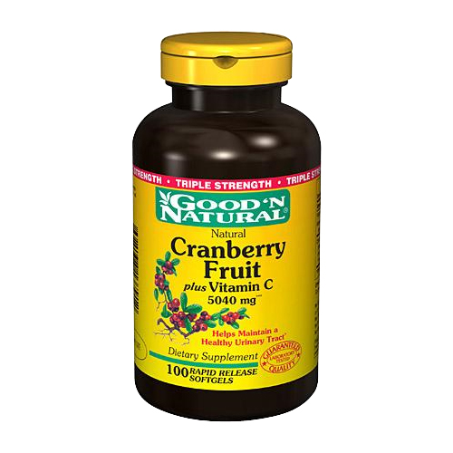 Good 'N Natural Cranberry Fruit plus Vitamin C Triple Strength 100 sgels