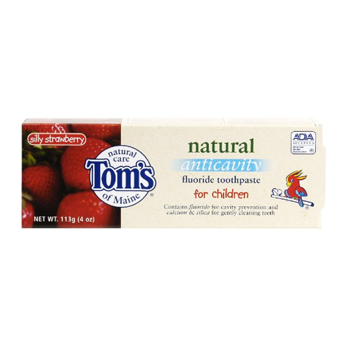 Tom's Of Maine Anticavity Fluoride Toothpaste for Children Silly Strawberry 4 oz