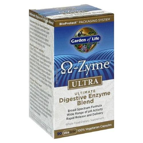 Garden of Life Omega-Zyme Ultra - Ultimate Digestive Blend - 90 vcaps