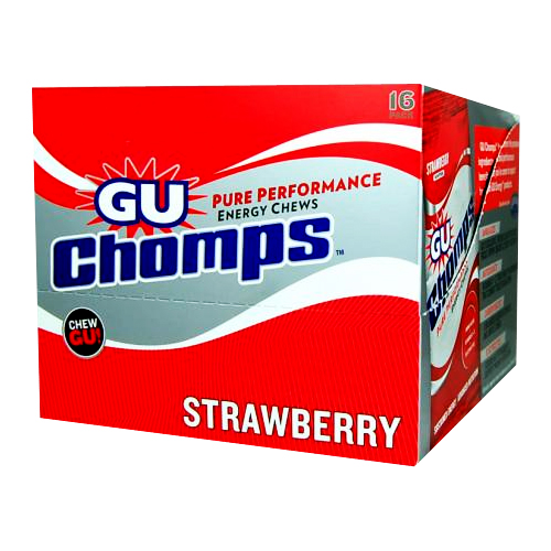 GU Chomps Strawberry - 16 packets
