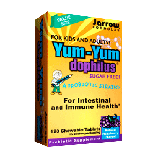 Jarrow Yum-Yum Dophilus Raspberry (Chewable) - 120 tabs