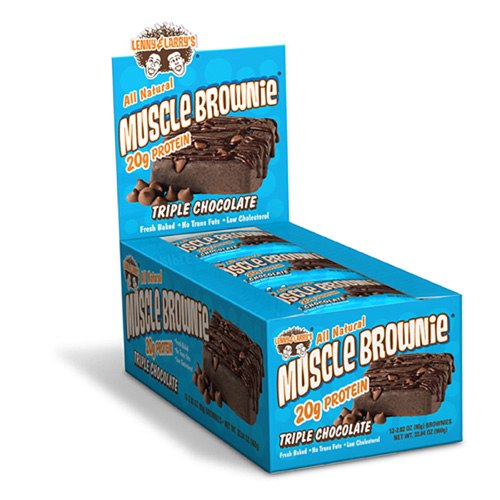 Lenny and Larry's Muscle Brownie Triple Chocolate - 12 pckts - astronutrition.com
