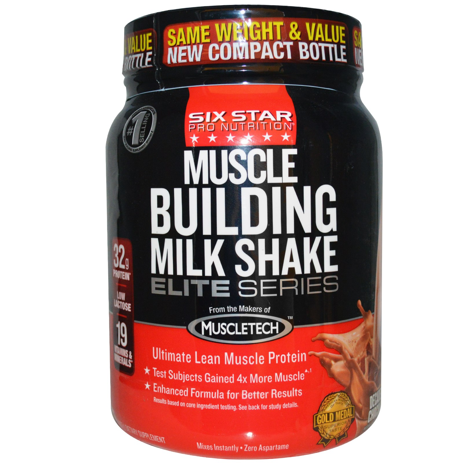 Iovate Six Star Muscle - Muscle Building Milk Shake Chocolate 2 lbs
