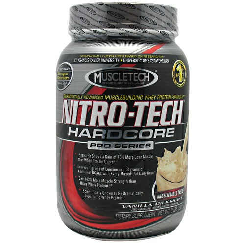 MUSCLETECH Nitro-Tech Hardcore Pro Series Strawberry Milkshake 2 lbs