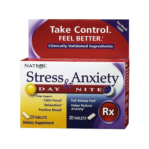 Natrol Stress and Anxiety Day and Night - 20 tabs