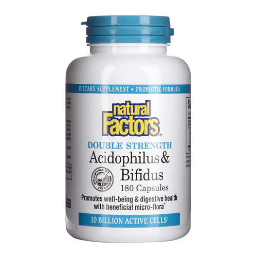 Naturals Factors Acidophilus & Bifidus 180 caps