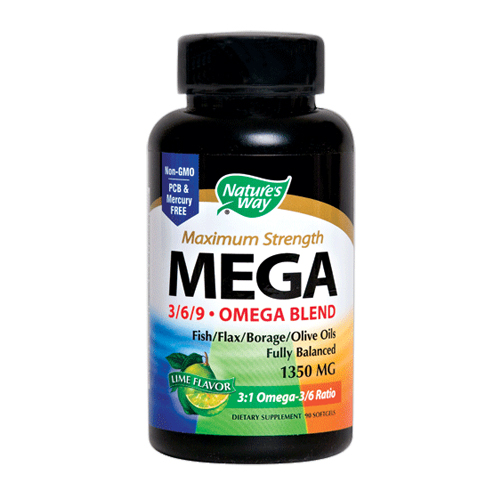 Nature's Way  Mega 3/6/9 Omega Blend - Maximum Strength - 90 softgels