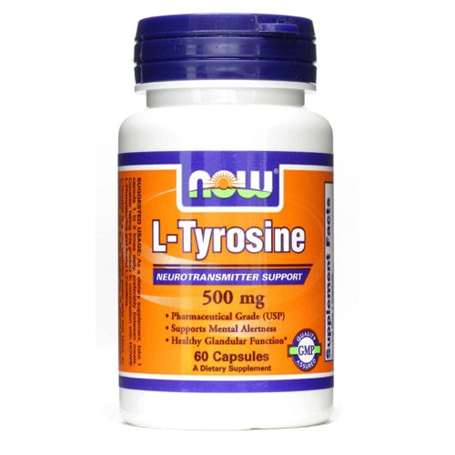 Now L-Tyrosine (500mg) - 60 caps - astronutrition.com