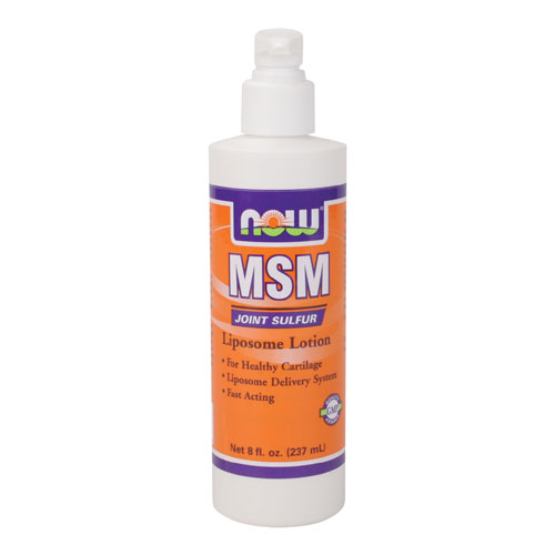 Now MSM Liposome Lotion 8 fl.oz - astronutrition.com