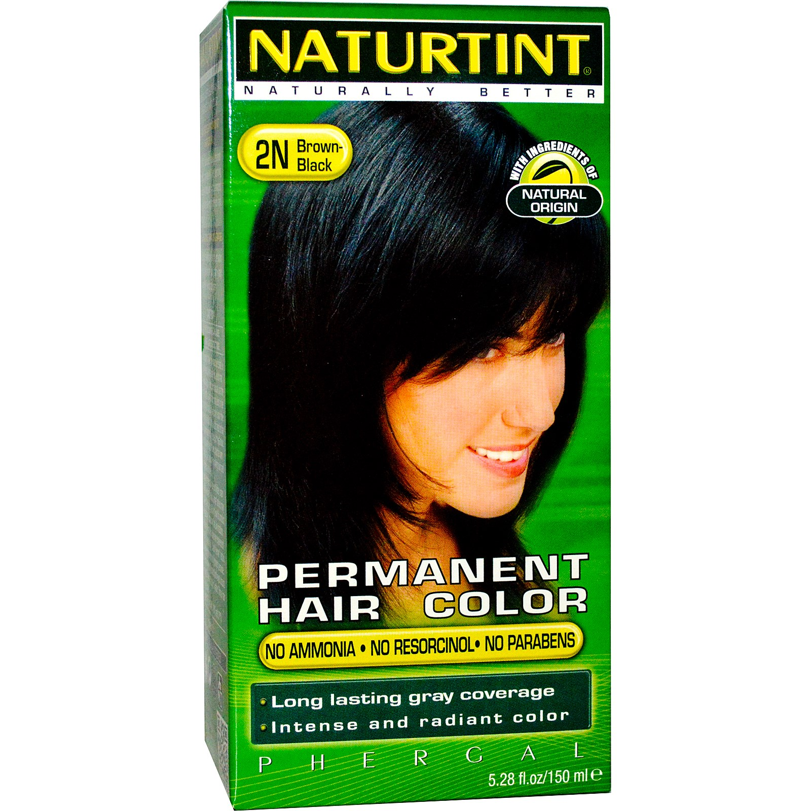 Naturtint Permanent Hair Colorant  2N Brown-Black - 5.98 fl.oz