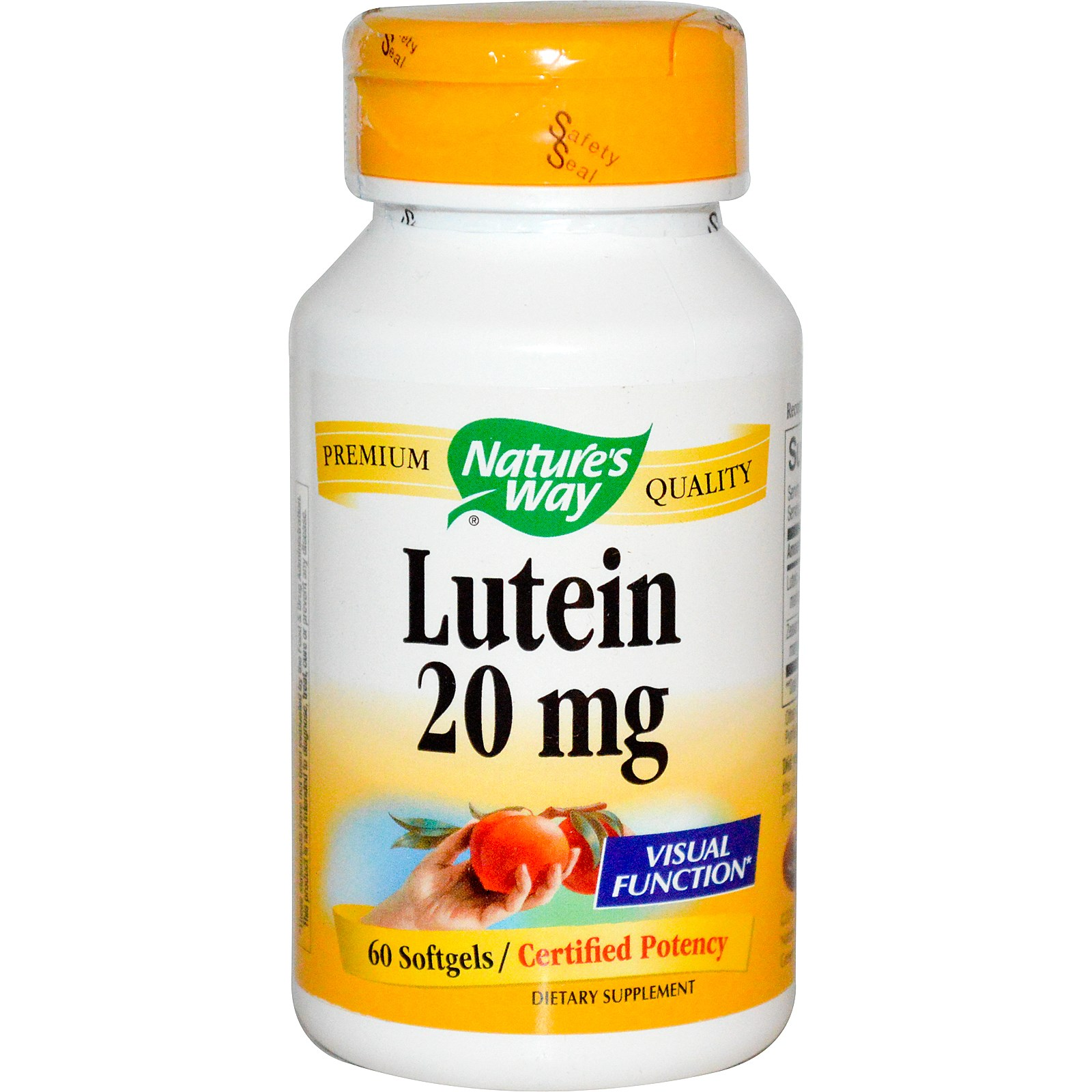 Nature's Way Lutein - 20 mg 60 softgels