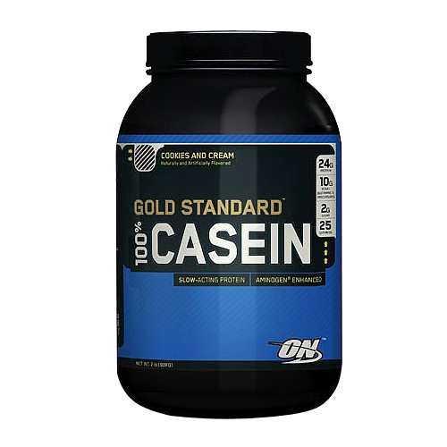 Optimum Nutrition 100% Gold Standard Casein Protein Cookies and Cream - 2 lbs